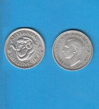 Gertbrolen§ Australie Australia  Silver Coin Georges VI 1 Shilling Argent 1940