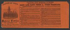 Albany NY c.1870s? CAPITAL CITY BAKING POWDER Unused Can Label Wm. Hagaman & Co.