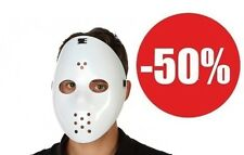 Masque dur Jason HOCKEY blanc vendredi 13 HALLOWEEN AVEC ELASTIQUE HOCKEYEUR 802