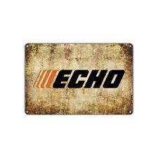 Echo Power Equipment Chainsaw Gas Oil Auto Toolbox Garage Retro Vintage Sign