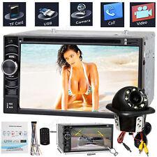 2 DIN AUX MP3 Bluetooth USB Autoradio&Kamera Für Toyota Corolla Verso 04-09 silb