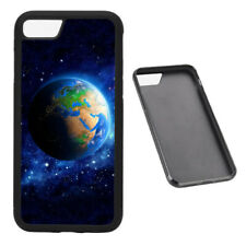 Planet Earth Space RUBBER phone case Fits iPhone