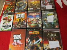 Playstation 2 Broken / Not Working video game lot with cases and manuals (as is)