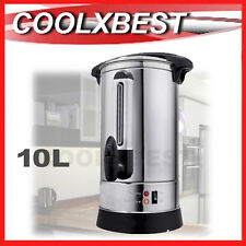 NEW 10L 40 CUP STAINLESS STEEL ELECTRIC HOT WATER URN TAP BOILER KETTLE