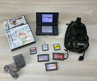 Blue Over Black Nintendo DS Lite w/ DS & GBA 8 Games & Charger Mariokart & Case!