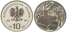 2001 Poland Silver Proof  10 Zl-King Jan III Sobieski