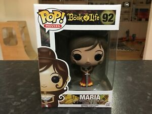 FUNKO POP! MOVIES - THE BOOK OF LIFE #92 MARIA - NEAR MINT , RARE VAULTED
