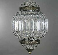 Classic Moroccan Lantern Style Antique Brass Clr K9 Crystal Ceiling Light Shade