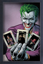 BATMAN JOKER PICK A CARD 13x19 FRAMED GELCOAT DC COMICS BRUCE WAYNE GOTHAM CITY!