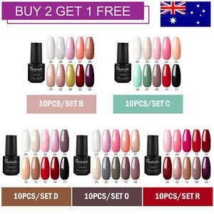 Shelloloh Soak Off Gel Polish 10 Color UV LED Gel Nail Kit Nail Art Manicure Set