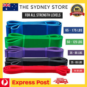AUS STOCK HEAVY DUTY RESISTANCE BANDS FITNESS GYM FITNESS POWER PULL UP TRAINING