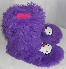 Hello Kitty Slipper Booties PURPLE SHAG NICE GIFT FREE USA SHIPPING SMALL 5-6