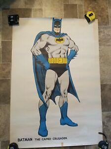 Batman The Caped Crusader Superhero Poster Vintage Style Pin-up DC Comics 1966