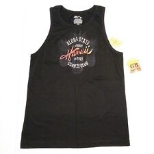 S Size Men's Tank top NWT Islander brand Hawaii theme Short Sleeve NEW -432-