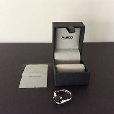 *SELLER'S AWAY BACK 1 JULY* MIMCO 925 Silver with Onyx Safe Side Ring SMALL