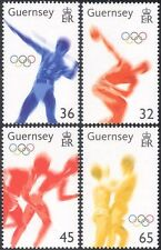 Guernsey 2004 Olympic Games/Sports/Olympics/Athletes/Animation 4v set (n27126)