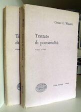 Cesare L. Musatti TRATTATO DI PSICOANALISI 2 volumi 1a edizione 1949 LIBRI