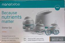 nanobebe Baby Bottle Newborn Feeding Starter Gift Set - Used