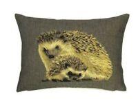 "18"" X 13"" Hedgehog Cushion Belgian Tapestry Wildlife Animals"