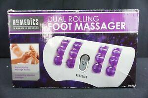 Homedics Massage Dual Foot Massager FMV-200 Vibrating Rolling Balls Portable