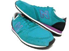 New Balance NB 420 Rare Green Purple Black suede Trainers UK 7 Unisex Retro