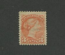 Queen Victoria 1873 Canada 3c Orange Stamp #37 Scott Value $175