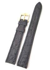Cinturino per orologio OMEGA ORIGINALE fibbia ORO coccodrillo 14 mm NUOVO art 33