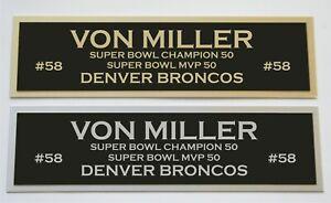 Von Miller nameplate for signed jersey football helmet or photo