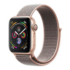 Apple Watch Series 4 40mm Aluminiumgehäuse in Gold mit Sport Loop in Sandrosa (GPS) - (MU692FD/A)