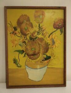 Vincent Van Gogh Art - oil on board painting signed Vincent