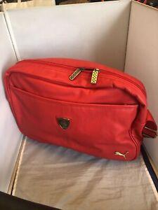 Puma Scuderia Ferrari Large Red Travel Bag Shoulder Bag NWT