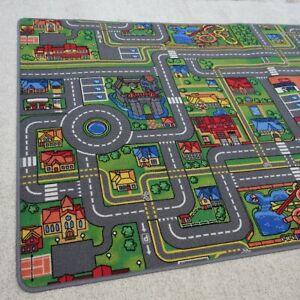 kleiner Spielteppich PLAY CITY Kinderteppich Spielstraßen Teppich NEU