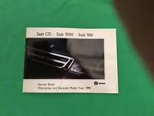 Genuine Saab Service Book. Covers All 1991 Models Unused Brand New