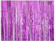1m*2m Metall Fransen Lametta Türvorhang Hintergrund Party Folie Glänzend 8Farben