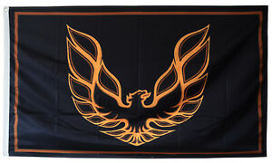 SPONSORED PONTIAC FIREBIRD TRANS AM FLAG BLACK BANNER 3X5FT US SELLER