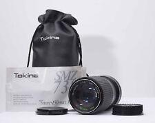 Canon FD Tokina 75-150mm 1:3 .8, ø52 lente con original funda de cuero n.817