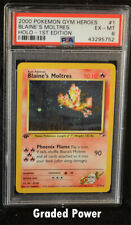 Pokemon Gym Heroes 1st Edition Blaine's Moltres PSA 6 Holo (5752) 1/132