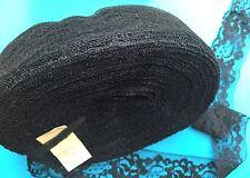 Grande 60m Rollo de 4cm Negro Vintage muy útil Florido Ribete De Encaje