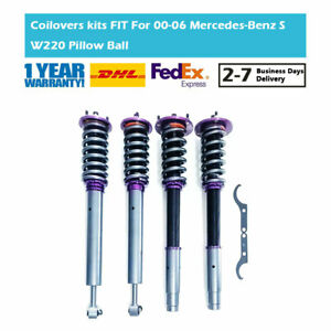 Fit Mercedes Benz S-Class W220 32Levels Adjustable Coilover Suspension Shock Kit