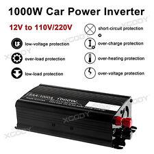 1000W Sine Wave Power Inverter Inversor de Corriente Convertidor DC 12V AC 220V