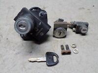 77 Suzuki GS 550 Lock Set w/ Key Ignition Switch Gas Tank Cover Lock Seat Latch