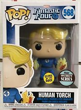 Funko Pop Fantastic Four Human Torch Glow In The Dark Specialty Series New!!!