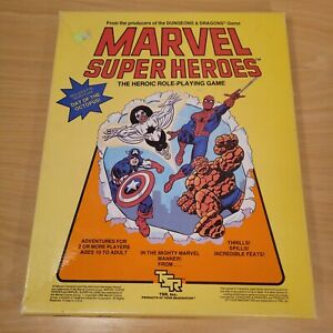 Vtg 1984 Marvel Superheroes Heroic RPG Basic Set TSR MH-O 6850 Octopus