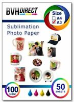 A3 Subli Fabric 100g Sublimation Transfer Paper 50 Sheets for T-Shirt & Fabrics