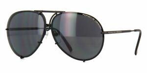 Porsche Design 8478D Sunglasses Matte Black Dark Grey Silver Mirror 69mm New