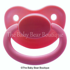 Pink large guard adult pacifier FREE P&P abdl ddlg NUK 5/6 Same day postage