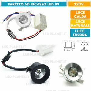Faretto punto luce 1w incasso MINI segnapasso LED controsoffitto con driver IP20