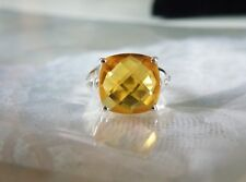 Sterling Silver 925 3.66ct Ametista Madeira Yellow Citrine Ring Size 7
