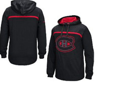 NHL Montreal Canadiens Cross Check Pullover Hooded Sweatshirt New Mens M $85
