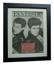 WHAM+MICHAEL+Fantastic+POSTER+AD+RARE+ORIGINAL 1983+FRAMED+EXPRESS GLOBAL SHIP